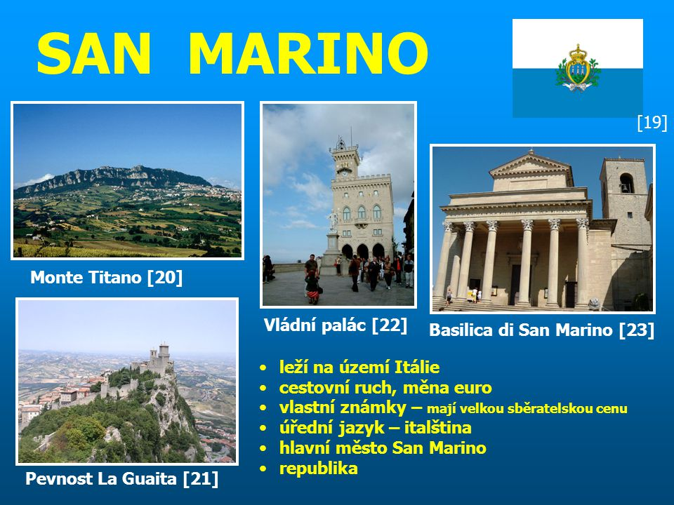 SAN MARINO [19] Monte Titano [20] Vládní palác [22]
